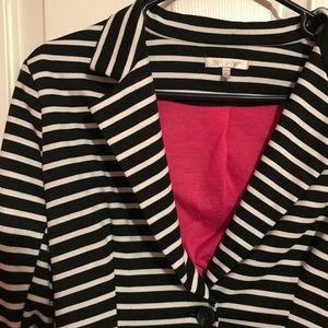 Striped Black/White Blazer